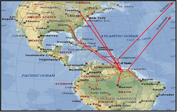 an introduction to the geography of guyana Geography of guyana the coastal plain, which occupies about 5 percent of the country's area, is home to more than 90 percent of its inhabitants the plain ranges from five to six kilometers wide and extends from the courantyne river in the east to the venezuelan border in the northwest.
